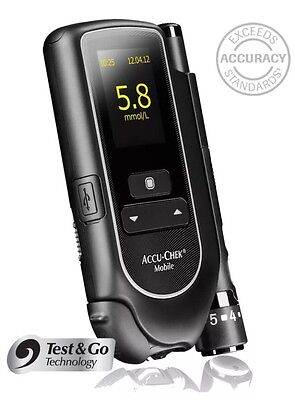 Accu-Chek Mobile Blood Glucose Meter - Diabetes -Single Unit Meter Only -RRP £35