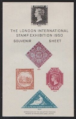 GB. 1950. Souvenir Sheet from London 1950 Stamp Exhibition. VGC. As photo.
