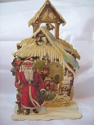 Vintage Christmas Card Vintage Santa Claus 3-D Stand-up Card Merrimack 1984
