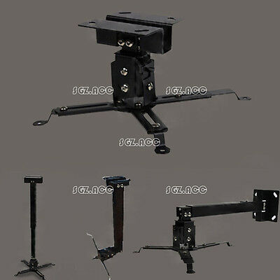 Tilting Extendable Universal LED LCD Projector Ceiling Wall Mount Bracket New