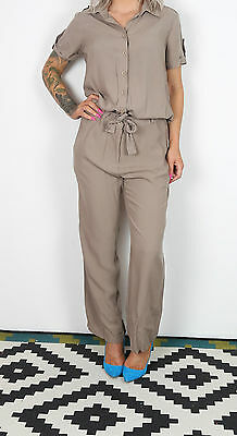 Jumpsuit UK 12-14 M L approx. 1990's Brown 90's All in one Vintage (63D)