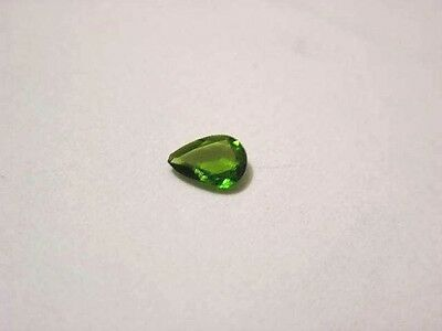 Chrome diopside gemstone all natural faceted 6x4mm teardrop 1/3 carat
