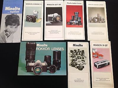 1960-70 Vintage Minolta Camera Equipment Brochures Leaflets