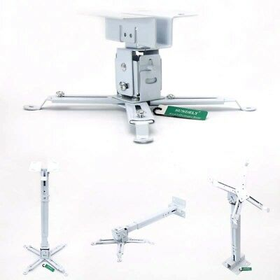 Projector Mounting Universal LCD DLP Ceiling Mount Bracket  360°Swivel 66lbs New