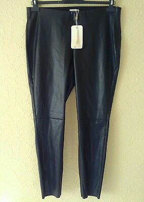 Nwt Black Faux Leather Size 18 Zip Ankle Trousers