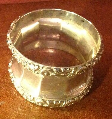 Large Antique French Silver Napkin Ring