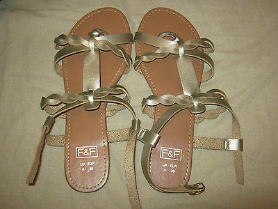 ladies gold sandals size 6