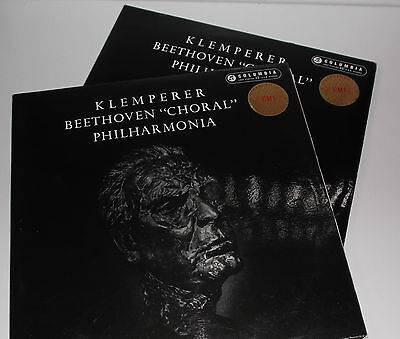 SAX 2276/7 Beethoven Symphony No.9 Philharmonia Orchestra Otto Klemperer B/S 2LP