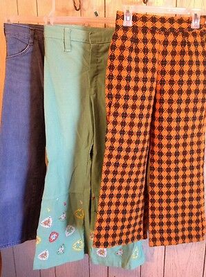 Rare Vintage Lot Girls 7 8 1970's Clothing Outfit Pants Sweater Shirt Tube Top