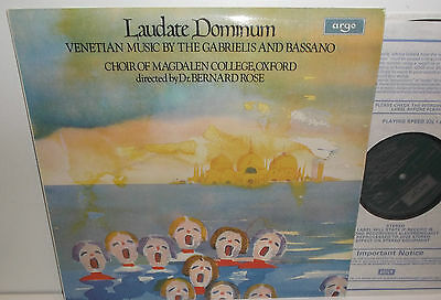 ZRG 857 Laudate Dominum Venetian Music By The Gabrielis And Bassano