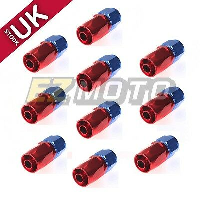 10pcs AN-6 AN6 Hose End Aluminum Car Performance Fitting Adaptor Swivel Straight