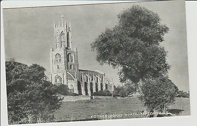 Fotheringhay Church Real Photograph Postcard Unposted c1950/60s