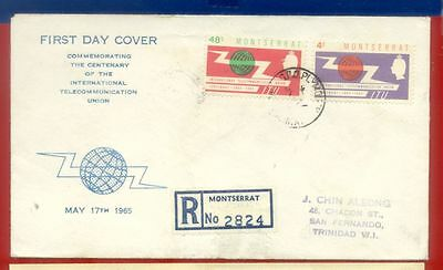 Senegal Dahomey USA Montserrat Topic ITU Telecommunication 5 diff FDC Cover