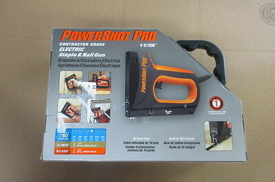 Powershot Pro #9100K Contractor Grade Electric Staple And Nail Gun New