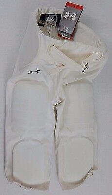 NWT Under Armour White Football Pants Integrated Pads Size Youth LARGE Display