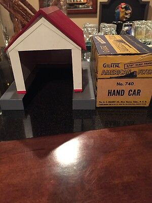 American Flyer # 741 Hand Car and Tool Shed Original S gauge