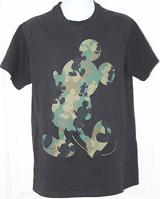 Disney Military Mickey Mouse Black Green Size S T Shirt Tee
