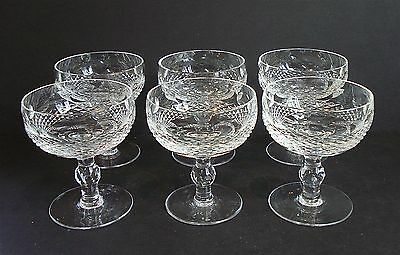 """6 ~ Waterford Crystal ~  COLLEEN ~ 4 3/8"""" Sherbet / Champagne EXCELLENT!!"""