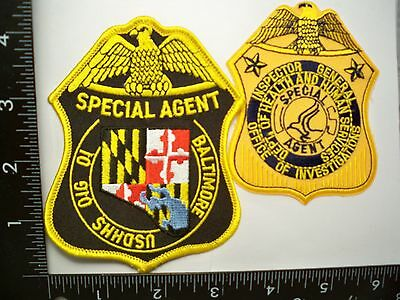 Federal Health Human Services HHS OIG 2 Patch Set Baltimore, MD Police Fraud TF