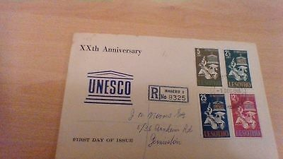 1966 Lesotho 20Th Anniversary Of Unesco First Day Cover