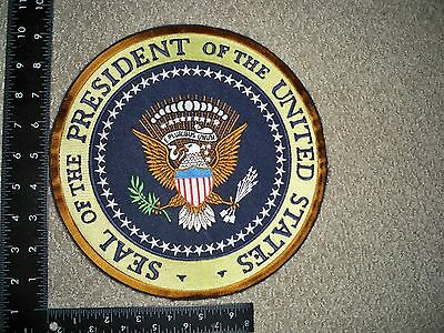 """Rare Federal POTUS 9"""" Full Color Seal Patch White House Inaugural Insignia"""