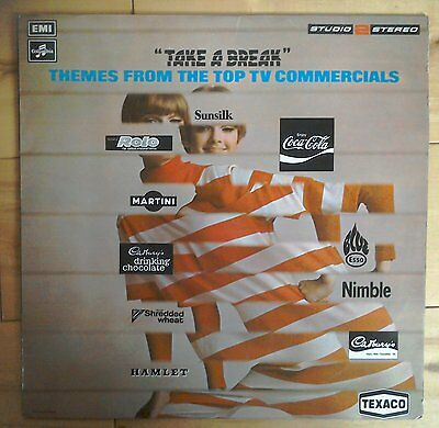 Robert James Orchestra Take a Break TV Commercials Studio 2 Stereo TWO 382 lp