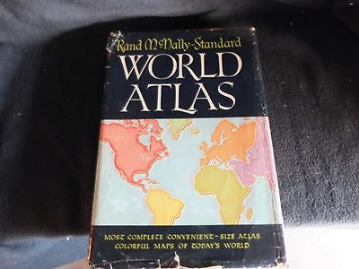 Vintage Rand McNally Standard World Atlas 1955