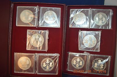 1980 Cayman Islands Set of The Silver KIngs Collection  KM-48=KM57