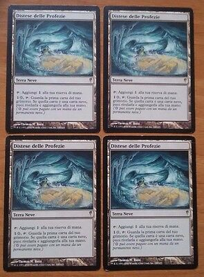 4X Scrying Sheets / 4X Distese delle Profezie MTG