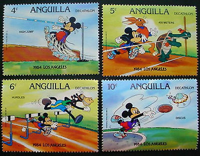 Anguilla: Collection Of 16 Mng Stamps Featuring Disney Characters