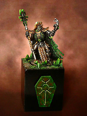 Warhammer 40K Necron Lord Imotekh the Stormlord. Painted