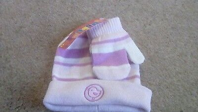 BNWT girls hat and gloves set age 0-2