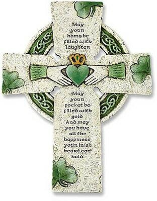 Irish Wall Cross with Blessing (PT001) NEW