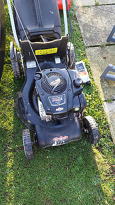 Lawn King Lawn Mower (8 months old) Wide cut. Petrol propelled rotary mower.