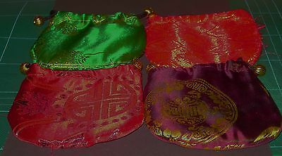 4 pcs Silk Embroidered gift Pouches
