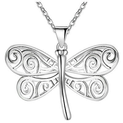 New Hot Fashion Jewelry 925 Silver fine gift dragonfly necklace Female Pendant