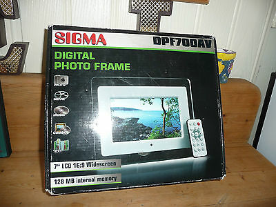 SIGMA 7ins DIGITAL PHOTO FRAME BOXED see details
