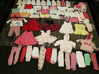 Baby Girls 3-6 Months clothes Bundle 75 items 3