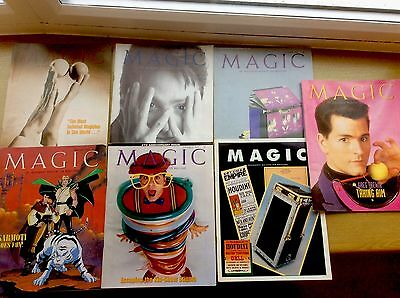 7 x VINTAGE Magician's Magazines ~ MAGIC - An Independent Magazine for Magicians