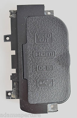 Nikon D300-Usb-Hdmi-Dc In-A/v Out-Rubber Door Cover-Spare Part
