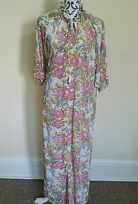 LADIES VINTAGE 60s FLORAL SUMMER HIPPY WOODSTOCK  DRESS SIZE 16-18