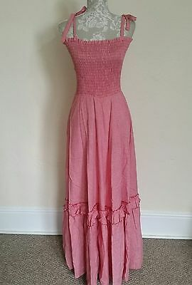 LADIES VINTAGE 70s  PEASANT DRESS SIZE 6-8