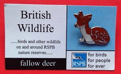 RSPB-British Wildlife FALLOW DEER Pin Badge.