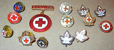 Canadian Red Cross Pins Vintage Lot of 14