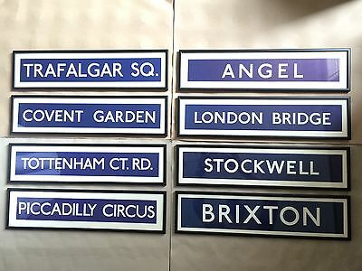 Original London Underground Tube Paper Signs Mounted & Bespoke Framed Wall Art