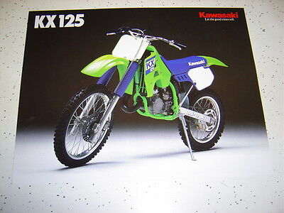 1988 Kawasaki KX125 NOS Sales Brochure 2 Pages.