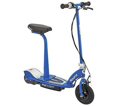 Razor E100S Blue Electric Scooter With Seat (Brand New In Box)