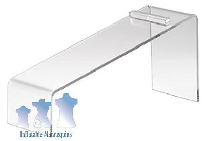 Inclined Counter Top Acrylic Shoe Display, Heel Hold