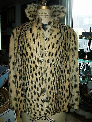 Vintage and Rare Real CHEETAH Skin / Fur Woman's Jacket leopard ocelot