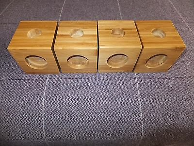 """chair Bed table raisers 4"""" 10cm 3 sizes once only used"""